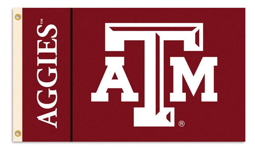Texas A&M University Aggis Logo Flag
