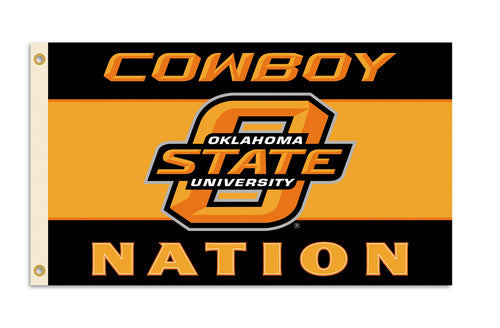 Oklahoma State University Cowboys Logo Flag