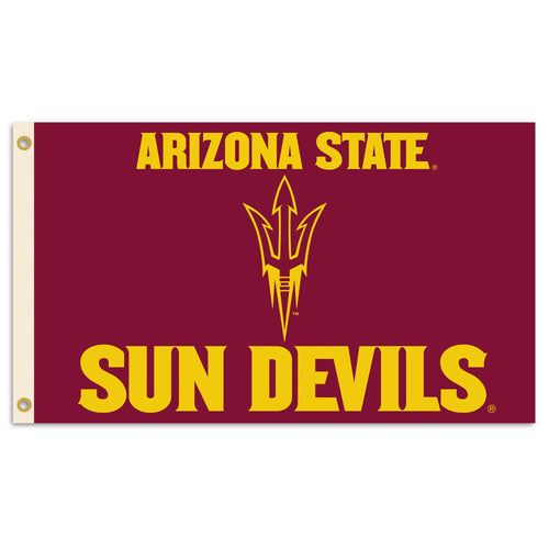 Arizona State University Sun Devil Logo Flag