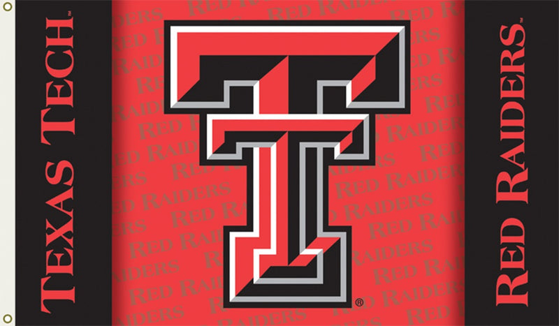 Texas Tech University Interlock Logo Flag