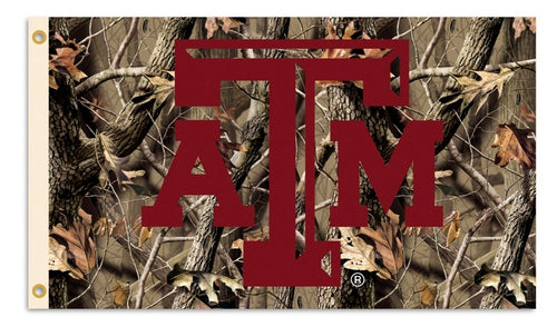 Texas A&M University Aggies Camo Flag