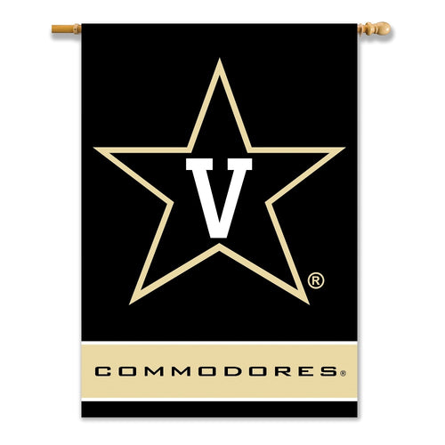 Vanderbilt University Commodores 2-Sided House Flag/Banner