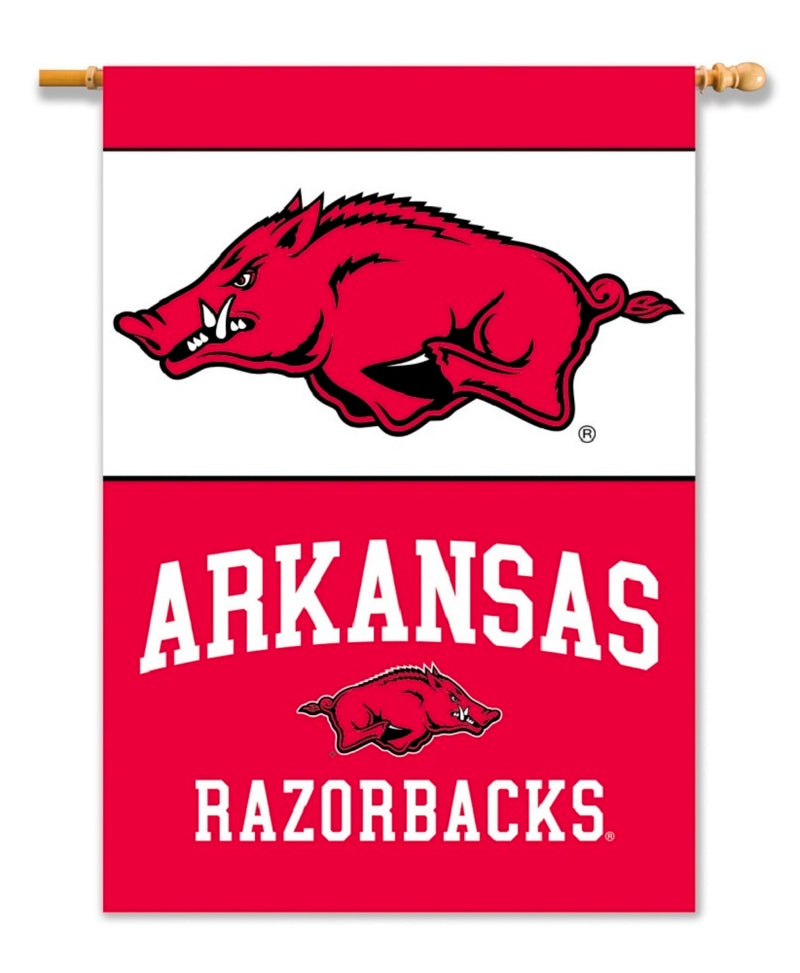 University of Arkansas Razorbacks 2-Sided House Flag/Banner