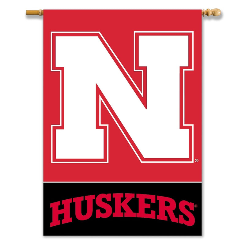 University of Nebraska Huskers 2-Sided House Flag/Banner