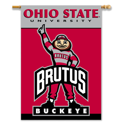 Ohio State University Buckeyes 2-Sided House Flag/Banner