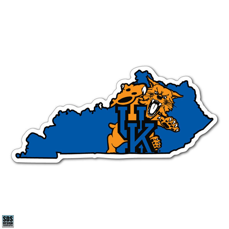"University of Kentucky Interlock State Wildcat Logo Dizzler Decal (5"")"