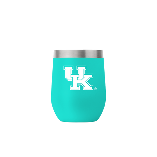 University of Kentucky Teal 12 Ounce Stemless Tumbler