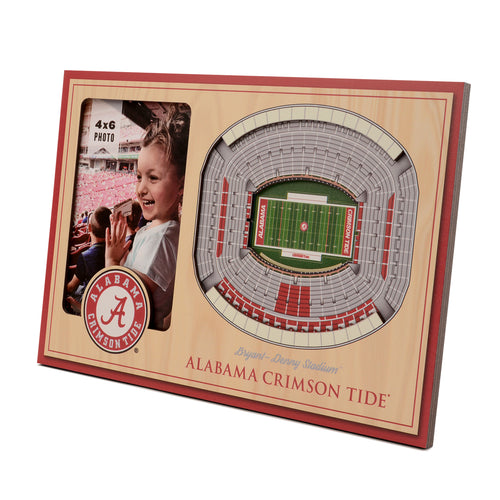 University of Alabama 3D Picture Frame - Bryant-Denny Stadium