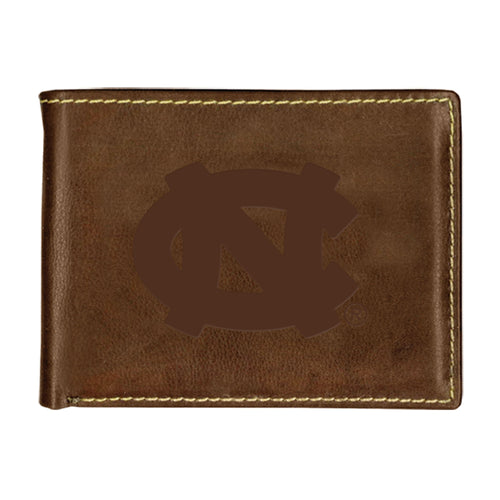 University of North Carolina Contrast Stitch Bifold Leather Wallet