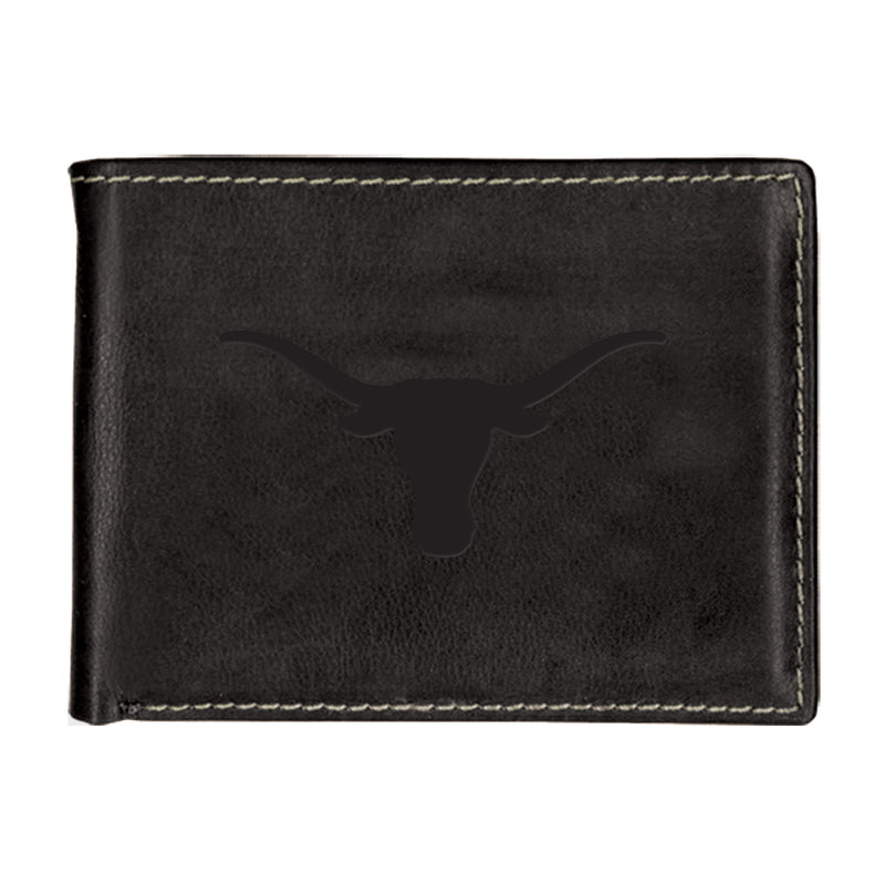 University of Texas Contrast Stitch Bifold Leather Wallet