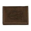 University of Florida Contrast Stitch Trifold Leather Wallet