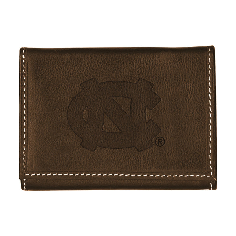 University of North Carolina Contrast Stitch Trifold Leather Wallet