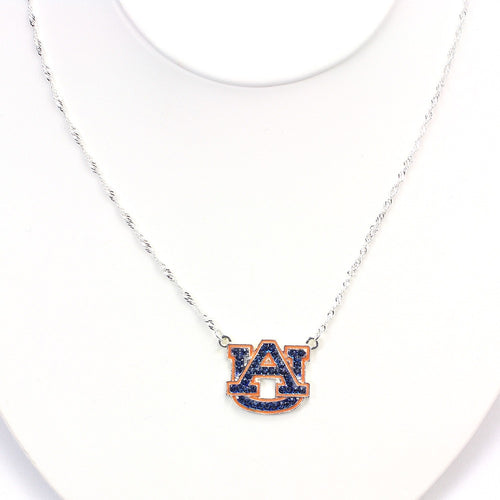 Auburn University Crystal Logo Necklace