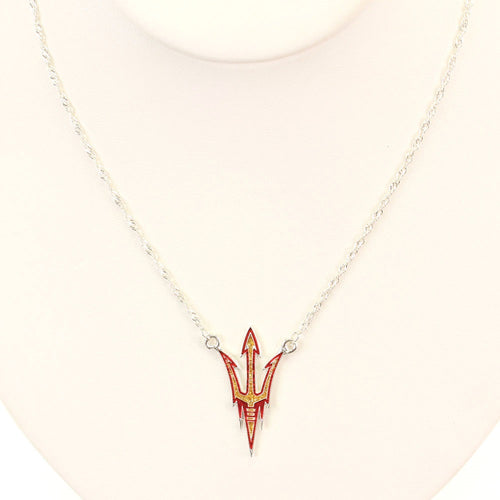 Arizona State University Crystal Logo Necklace