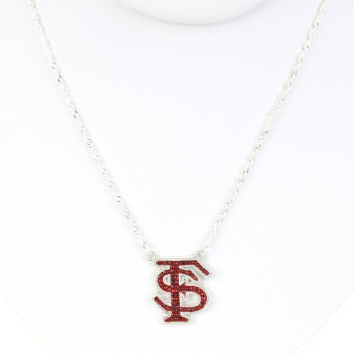 Florida State University Crystal Logo Necklace
