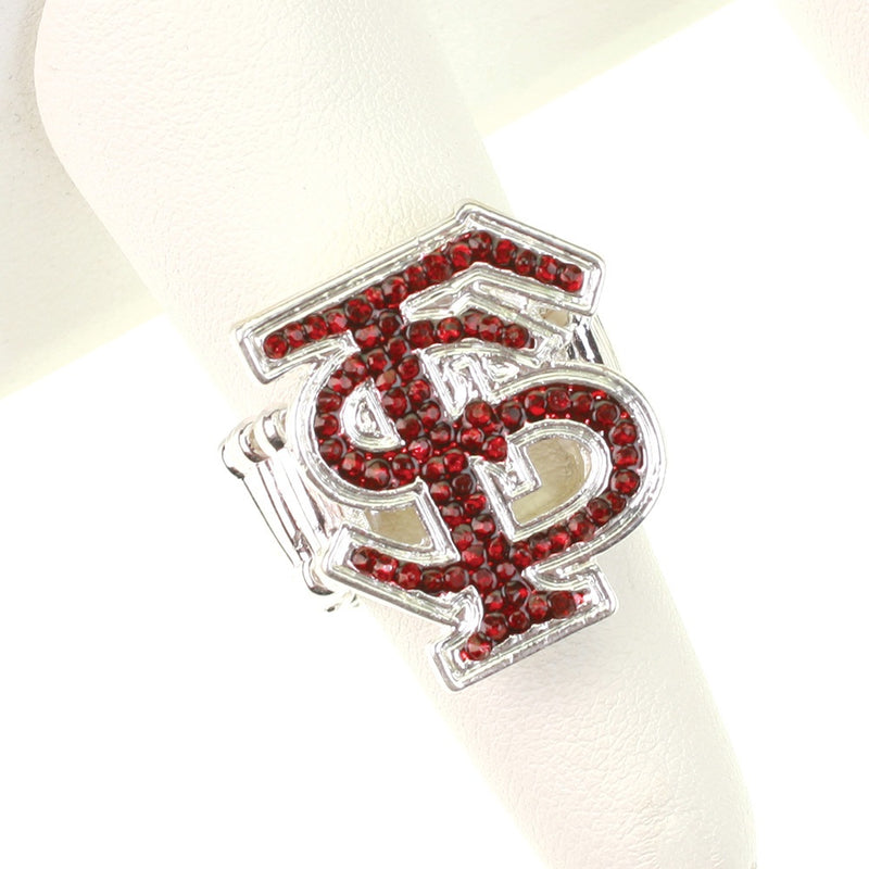 Florida State University Crystal Logo Stretch Ring