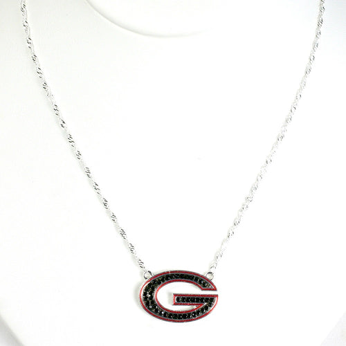 University of Georgia Crystal Logo Necklace