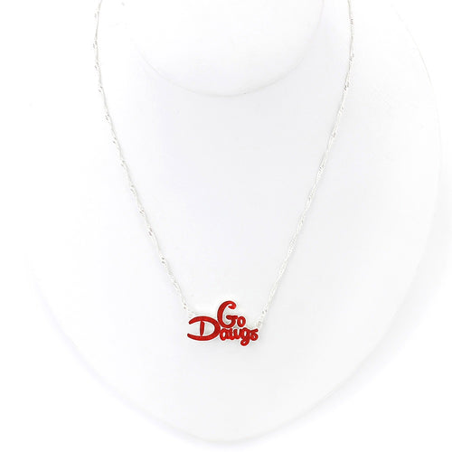 University of Georgia Slogan Necklace