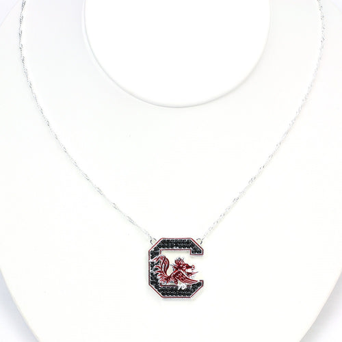University of South Carolina Crystal Logo Necklace
