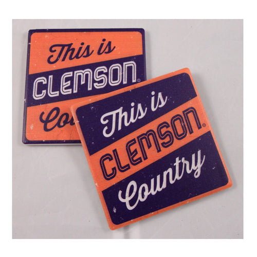 Clemson University Thirsty Coaster 4-Pack