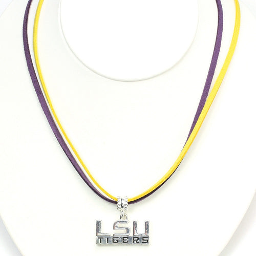 Louisiana State University Double Suede Cord Necklace