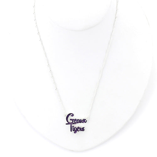 Louisiana State University Slogan Necklace