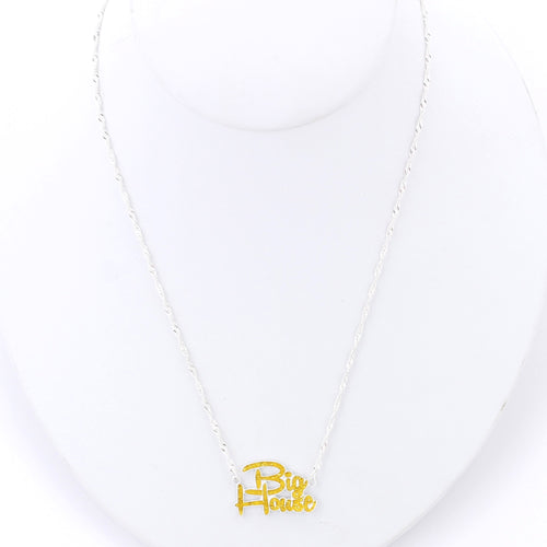 University of Michigan Slogan Necklace