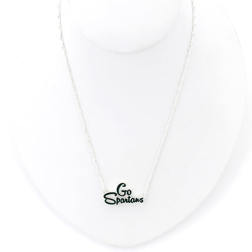 Michigan State University Slogan Necklace