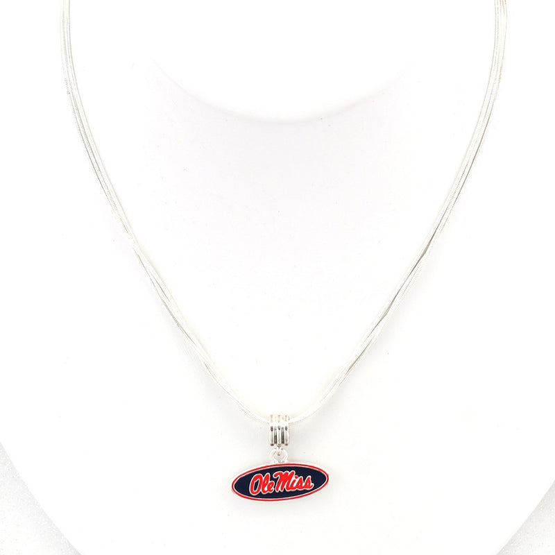 University of Mississippi Enamel Logo Necklace