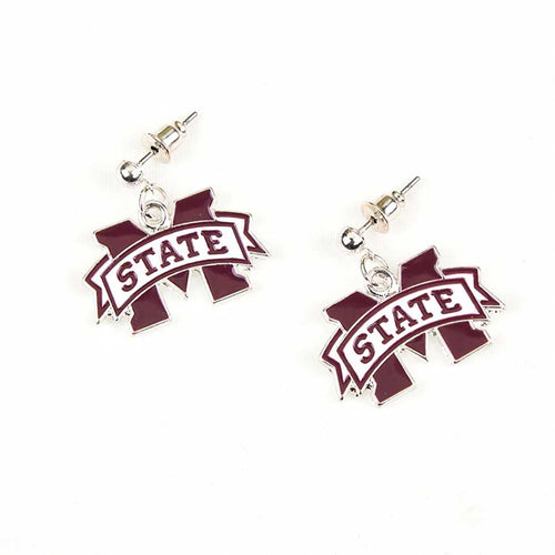 Mississippi State University Enamel Logo Earrings
