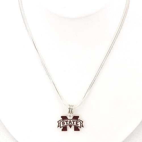 Mississippi State University Enamel Logo Necklace