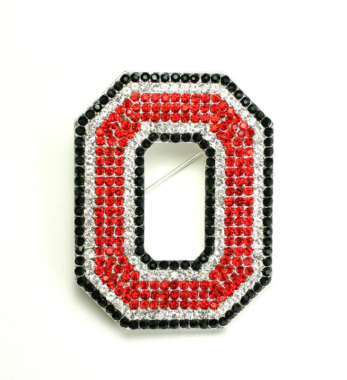 Ohio State University Crystal Pin