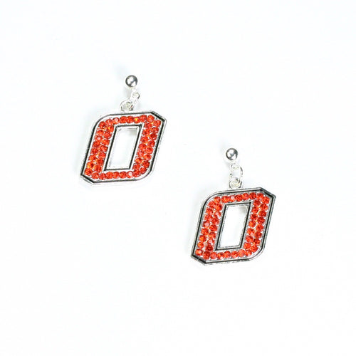 Oklahoma State University Crystal Dangle Earrings