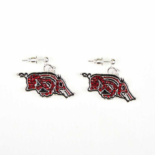 University of Arkansas Crystal Dangle Earrings