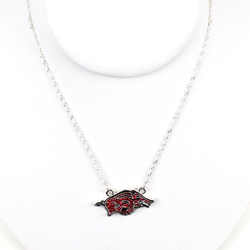 University of Arkansas Crystal Logo Necklace