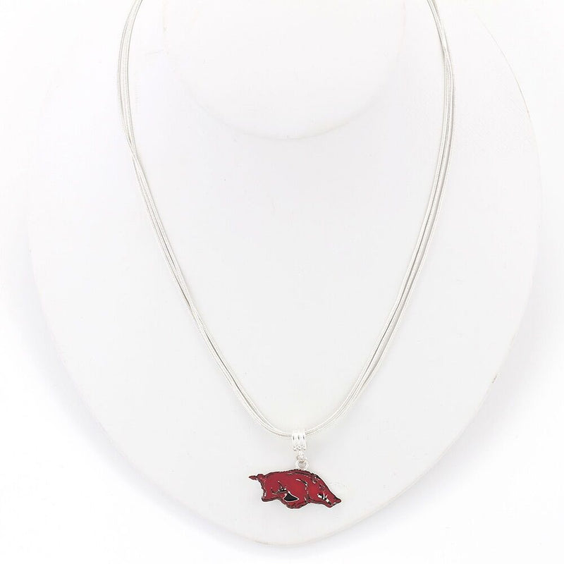 University of Arkansas Enamel Logo Necklace
