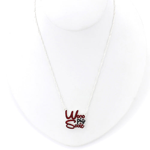 University of Arkansas Slogan Necklace