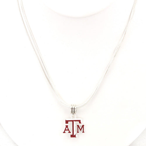 Texas A&M University Enamel Logo Necklace