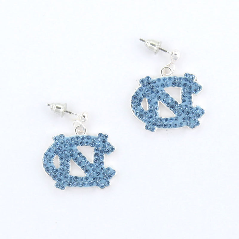 University of North Carolina Crystal Earrings