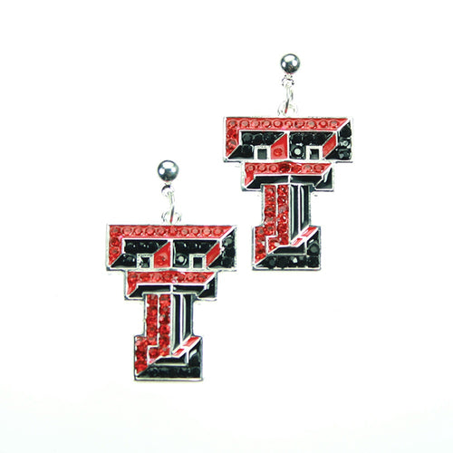 Texas Tech University Crystal Dangle Earrings