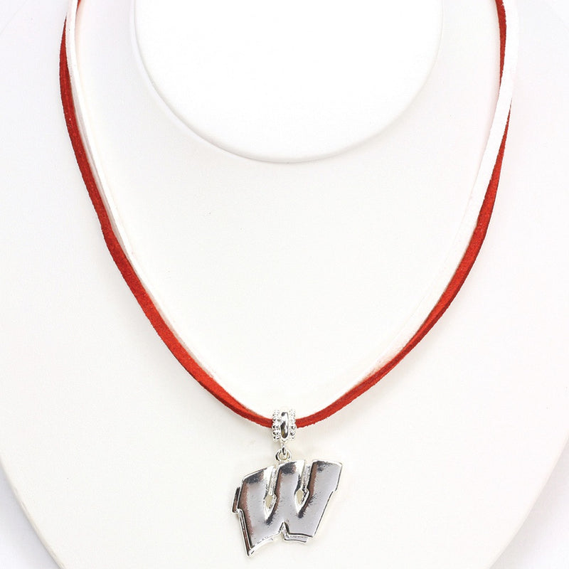 University of Wisconsin Double Suede Cord Necklace