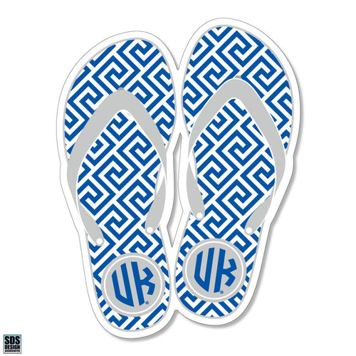 "University of Kentucky Greek Key Flip Flops Vinyl Decal (3"")"