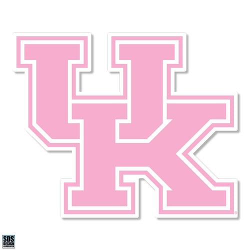 "University of Kentucky Pink Interlock Vinyl Decal (6"")"