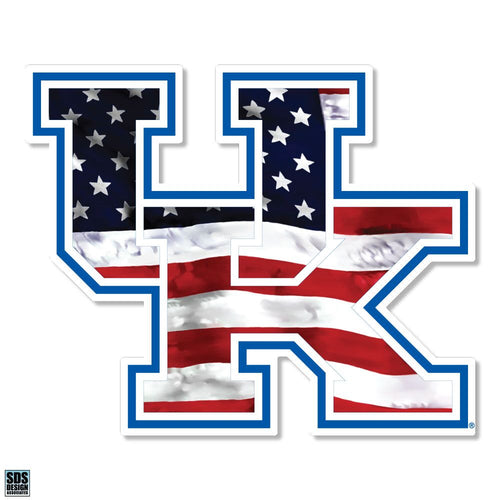 "University of Kentucky Interlock Flag Dizzler Decal (5"")"