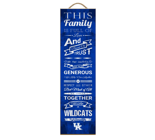 University of Kentucky Family Wooden Plaque