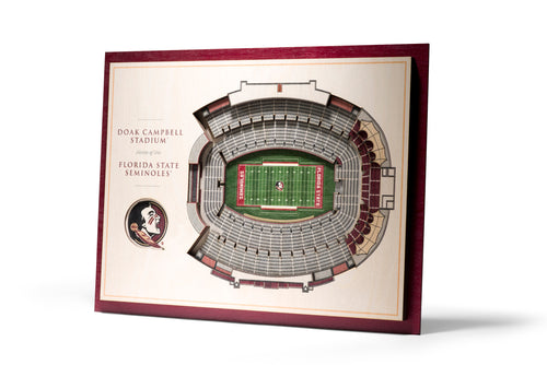 Florida State University 5-Layer Doak Campbell Stadium Wall Art