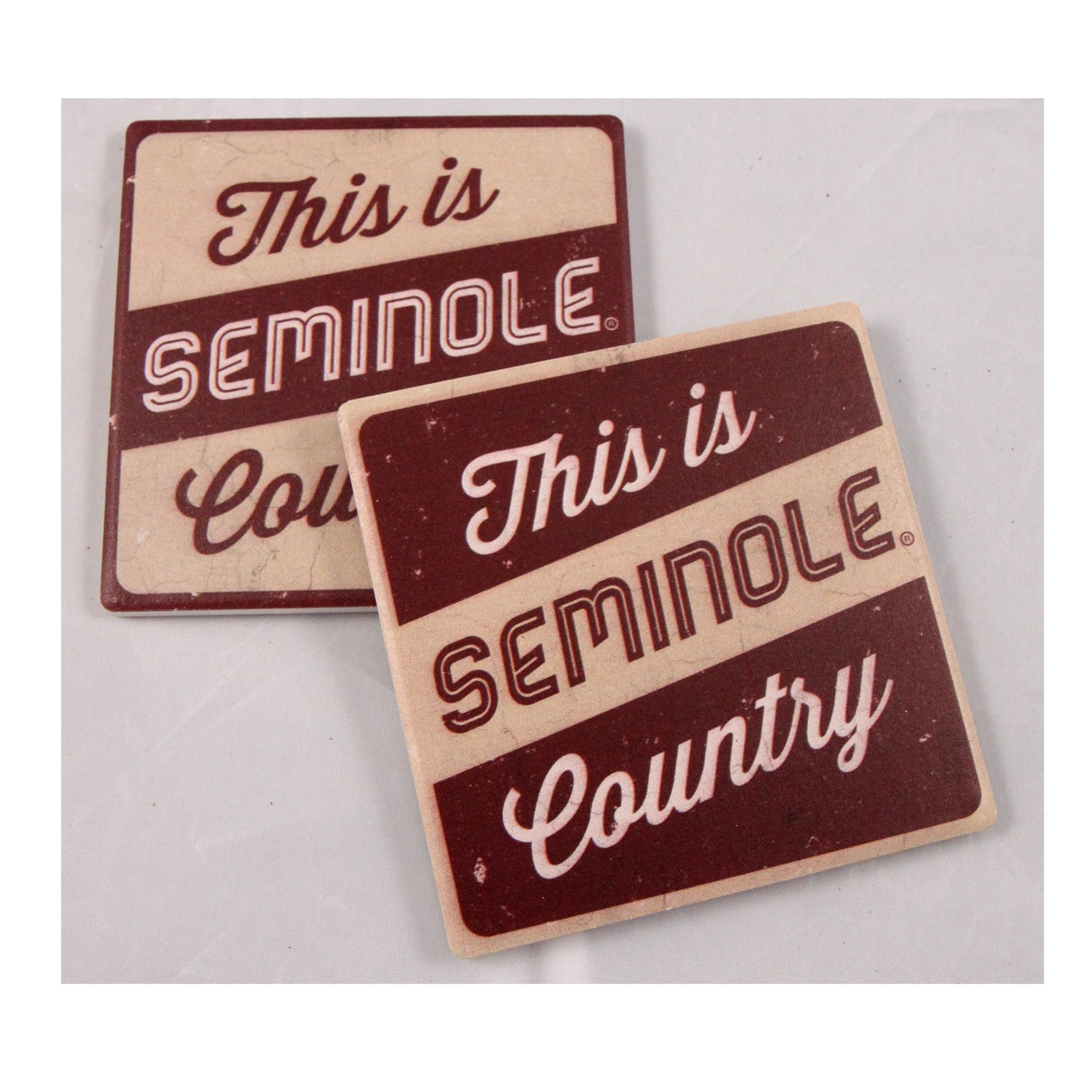 Decorative Round Sandstone Drink Coasters Florida State Seminoles Set of 4 Coasters