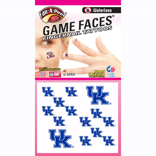 University of Kentucky Fingernail Tattoos