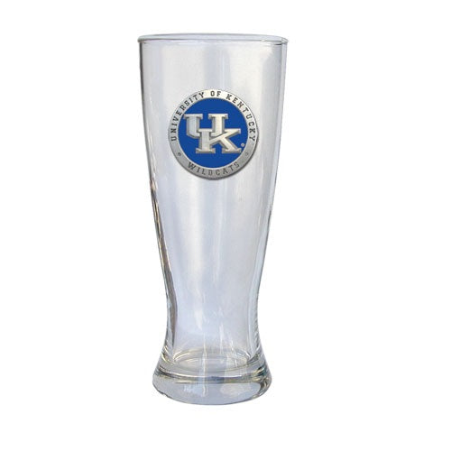 University of Kentucky Pilsner Glass with Pewter Accent