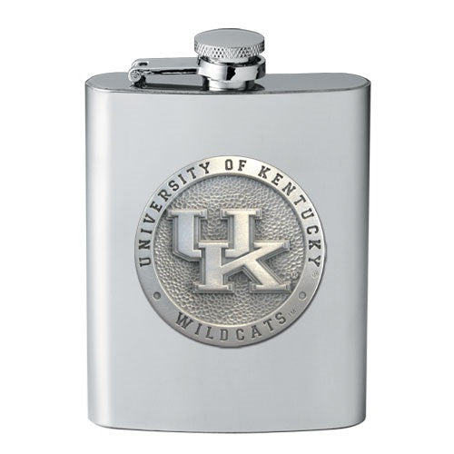University of Kentucky Flask with Pewter Accent